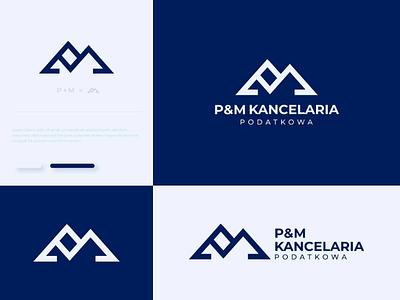 P&M Kancelaria logo design logofirmypoznan logoagency taxlogo typography logodesign