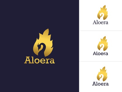 Aloera beauty product typography type design logo