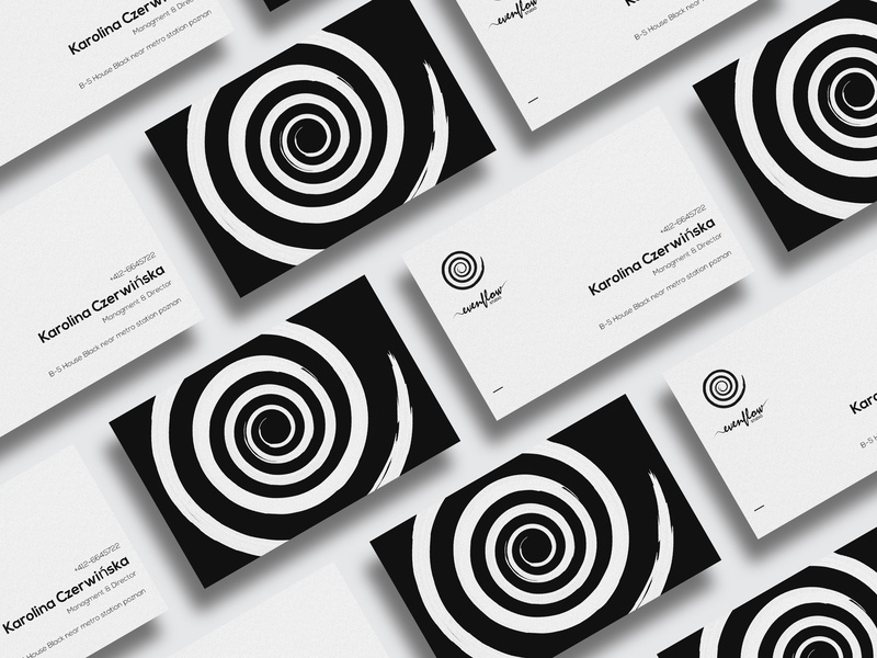 Business cards of EvenFlow studio branding vector brand efs poznań graphic design visiting card design company card business card design business card