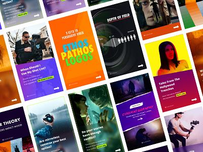 Instagram Stories app typography vector branding design