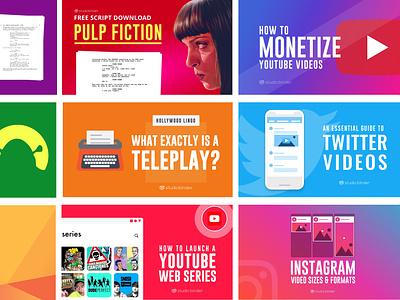 Custom designs for blog and social media presence clean app branding web minimal flat icon ux ui typography illustration vector design