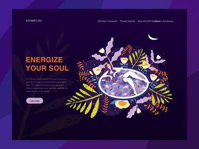 Illustration web branding ui illustration design