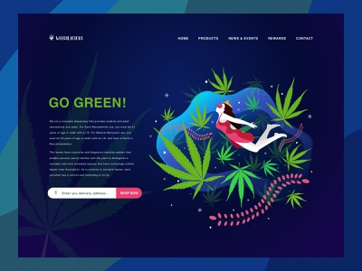 Weedilicious Goddess Illustration web website flat clean ux ui app vector branding illustration design