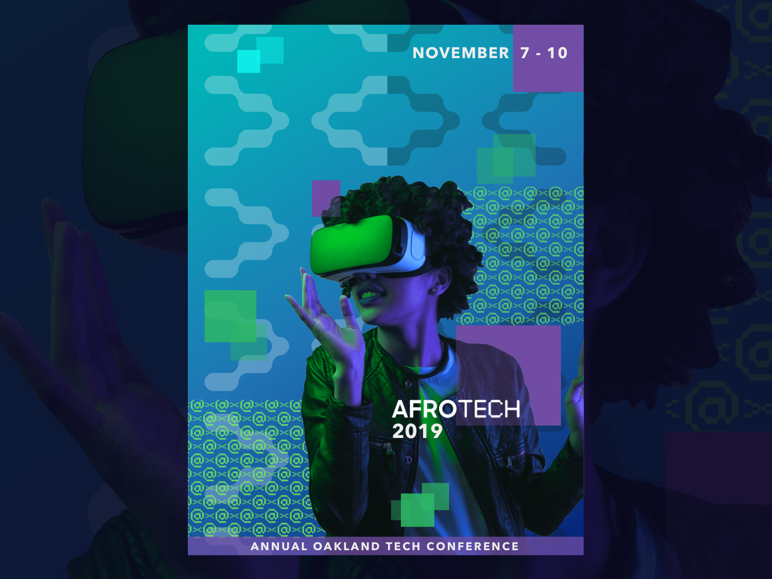 Poster Design for AfroTech Conference 2019