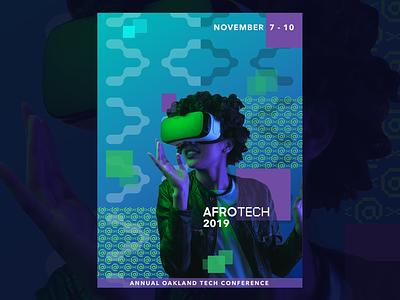 Poster Design for AfroTech Conference 2019 illustration branding design