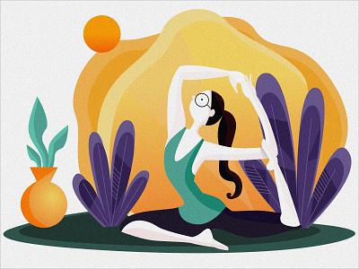 Yoga Girl website branding web ux ui vector illustration design