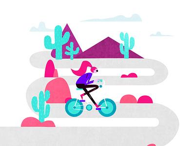 Girl Cycling kanchan gaur branding website web vector ux ui illustration design