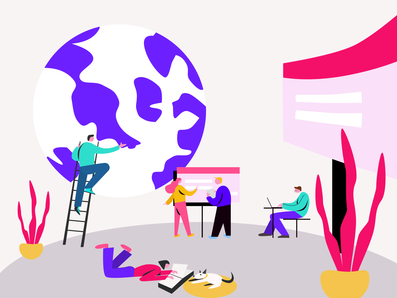 Illustrations for ColorBlast Films