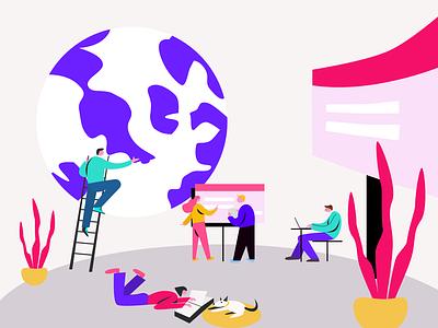 Illustrations for ColorBlast Films research kanchan gaur website web ux vector ui illustration branding design