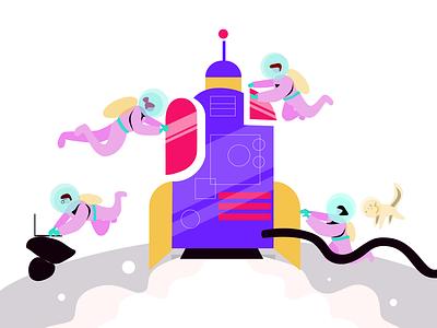 Illustration for ColorBlast Films kanchan gaur website web vector ui illustration branding design