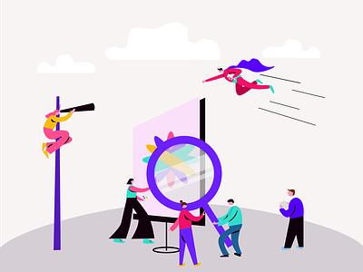 Illustration for ColorBlast Films kanchan gaur website web ux vector ui illustration branding design