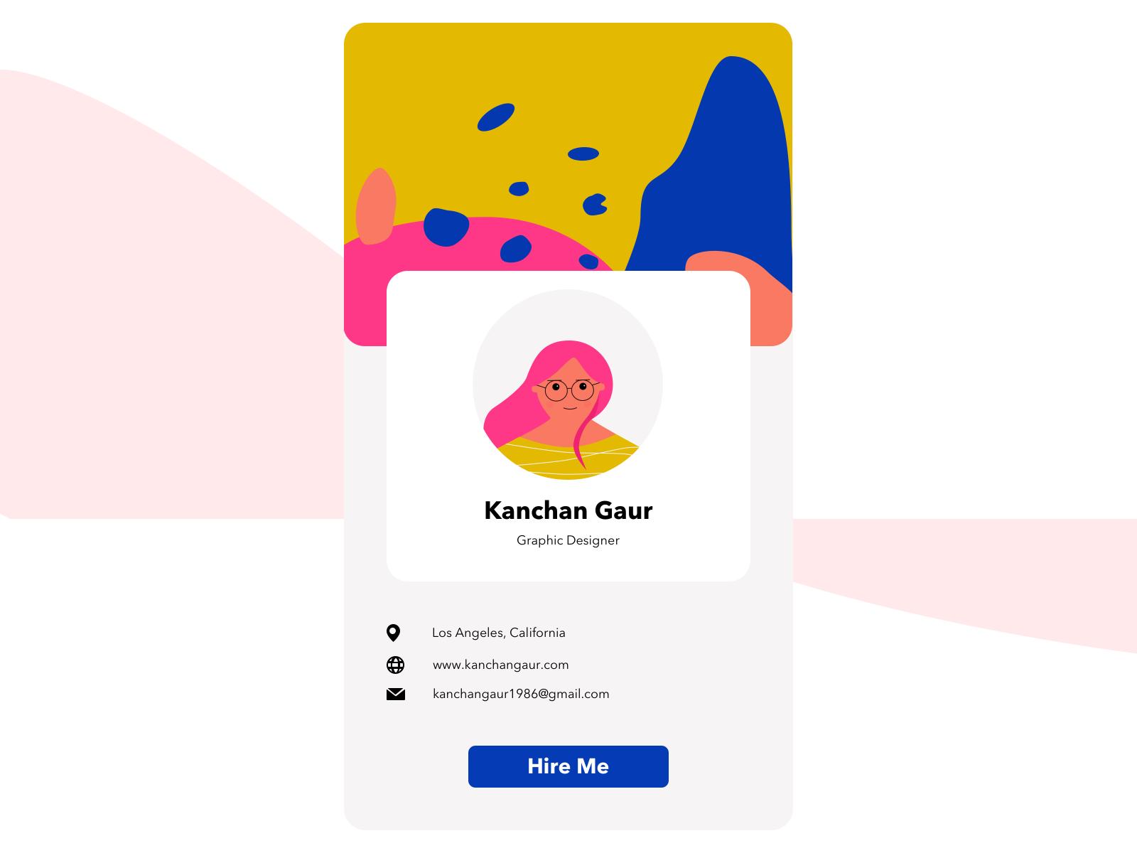 UI Challenge User Profile