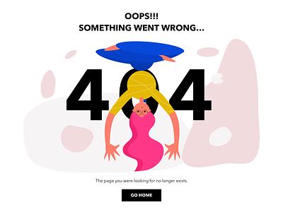UI Challenge 02 - 404 Page flat website web ux kanchan gaur ui vector illustration branding design