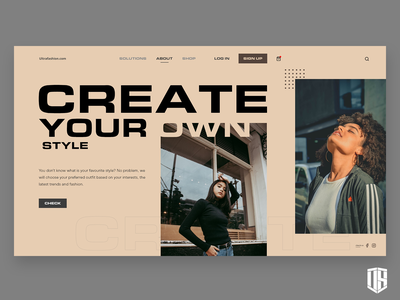 Create Your Own Style page clean minimal web website typography design graphic design ux ui branding