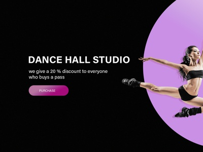 Dancing studio banner modern dance studio dancing dancer dark banner web design