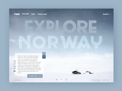 Daily UI #003: Landing Page explore landing page travel norway daily ui 003 daily ui