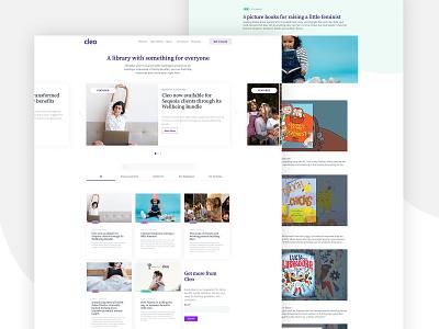 Cleo Site Redesign tech typography vector landing page branding design ui web