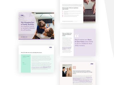 Cleo eBook Design tech layout typography ebook branding design