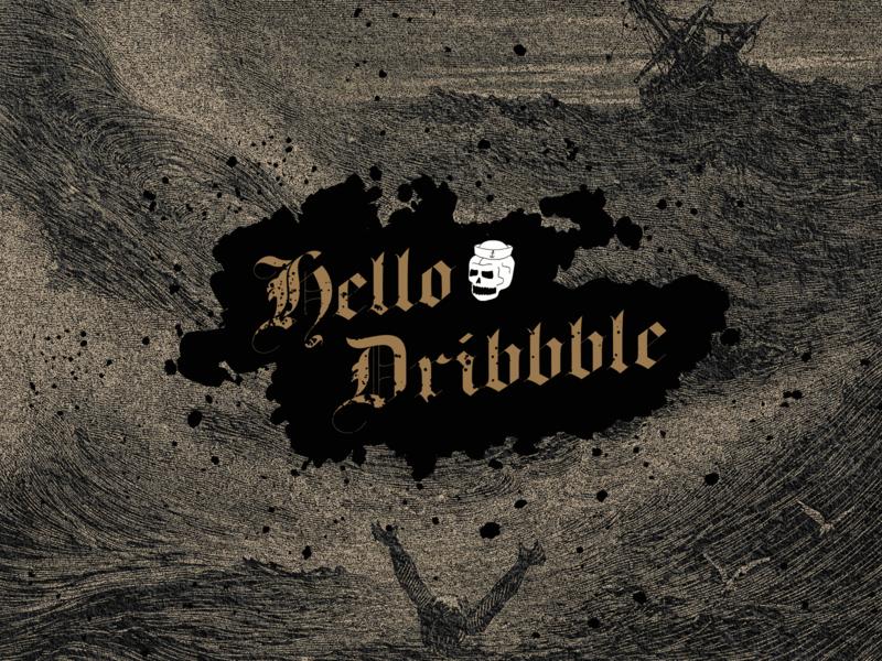 Hello Dribbble! hello dribbble first shot debut vector illustration