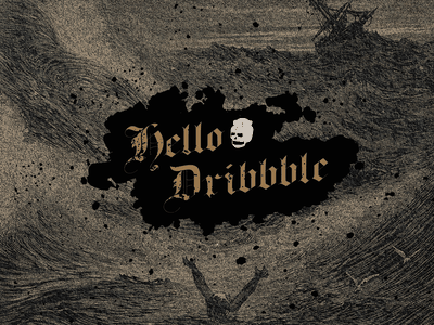 Hello Dribbble! hello dribbble first shot debut vector illustration