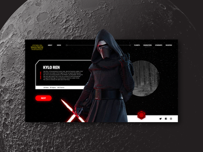 May The 4th Be With You ui card web landing page website ui  ux design may the 4th kylo ren star wars