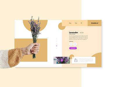 Monkshood Floral flowers floral ui card ui ux design shopping ecommerce web  design web landing page