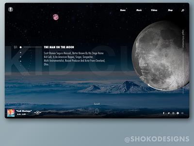 Kid Cudi Web Design Concept websites website concept website kanye kids see ghosts hiphop uidesign uiux website design webdesign figma kid cudi