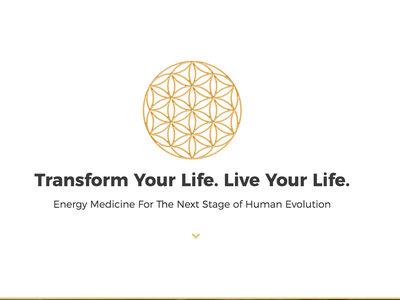 Nancy Bouchard - Energy Medicine golden flower of life sacred geometry minimal logo design branding
