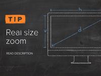 Real size formula