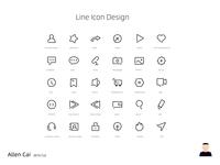LINE ICON DESIGN