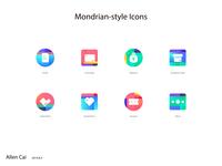 Mondrian-Style Icons