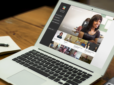 Video Counselor Interface: Work In Progress touch clean responsive video