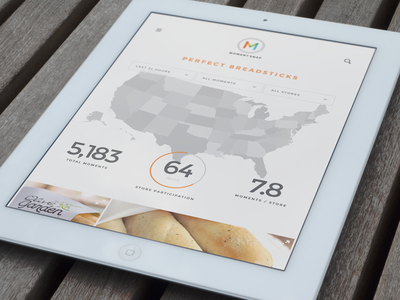 Campaign Results - Tablet Vertical charts map ipad clean responsive