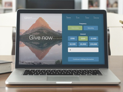 Donation Form Concept npo donation form touch responsive simple