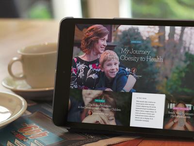 Health and Lifestyle Publication Concept mobile web magazine publication health