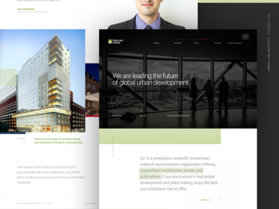 Urban Land Institute grid typography single page web corporate
