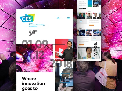 CES Redesign Concept event electronics consumer responsive corporate