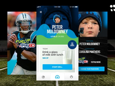 NFL FUTP60 Mobile App Concept sports mobile teens kids health football
