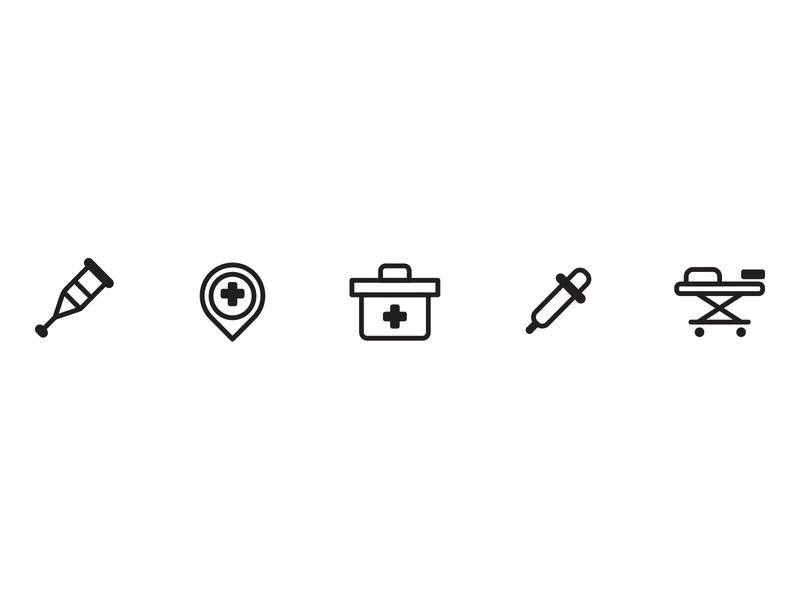 Medical Equipment illustration design icon set icon design icon