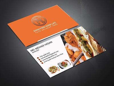 Restarurant business card logo animation creative business cards brochure bifold flyer design card business card