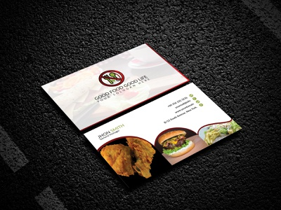 Restarurant business card animation business cards logo creative brochure bifold flyer card business card design