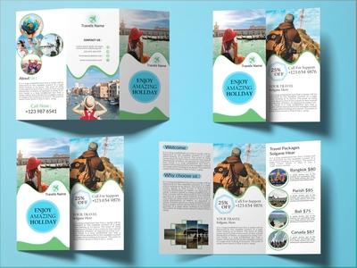 Tri-fold Brochure travel.