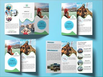 Tri-fold Brochure travel. typography trifoldbrochure design creative logo trifold graphicdesign flyer brochure bifold business card