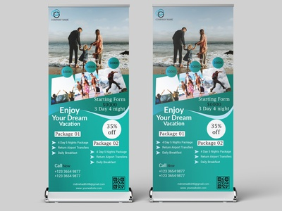 23 logo business cards travel roll up banner design banner design creative bifold business card graphicdesign brochure flyer rollup banner