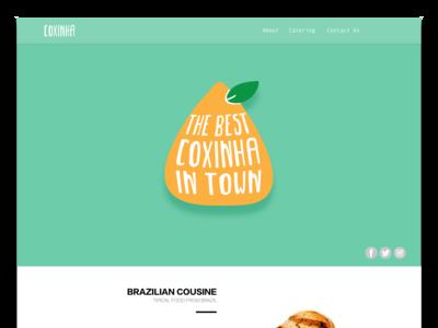 Coxinha website & logo