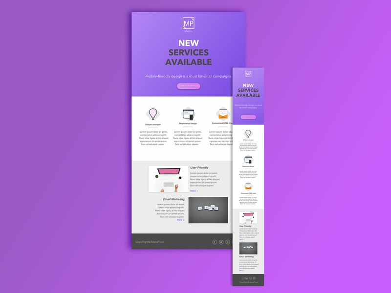 Responsive HTML email idea webdesign responsive layout design responsive design email app responsive email