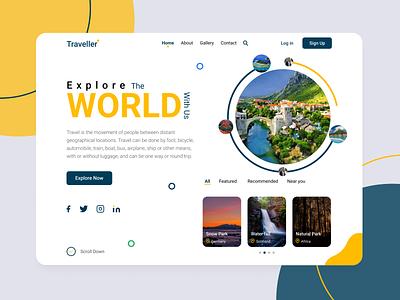 Travel Web App modern design new design travel ui travel landing page travel website web app landingpage travel