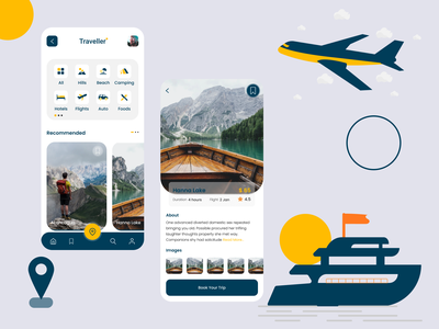 Travel Mobile Ui travel travel mobile app ui ux modern design modernism new design mobile ui mobile app travel app