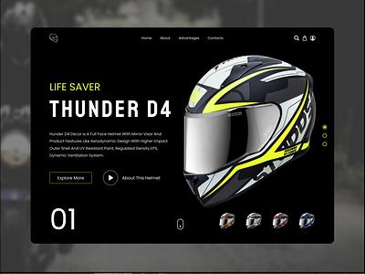 Bike Helmet Landing Page web app uiuix web uiux web ui webdesign website landing page design landing page landingpage app design abstract ui ux ui design new design