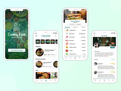 Cooking App e commerce food app uiuxdesign uiux design uiux mobile app design cooking app design mobile ui app app design ui modernism ui design ux modern design new design